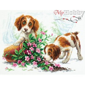 Complete Counted Cross Stitch Kit 'It happened…' 30 x 23cm - MAGIC NEEDLE art: 59-20
