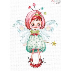 Complete Counted Cross Stitch Kit 'I grant your wishes' 12 x 16cm - MAGIC NEEDLE art: 80-04