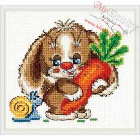 Complete Counted Cross Stitch Kit 'Sweet carrot' 12 x 11cm - MAGIC NEEDLE art: 18-57