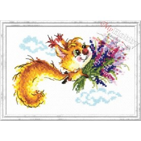 Complete Counted Cross Stitch Kit 'I Fly to You' 17 x 11cm - MAGIC NEEDLE art: 26-22