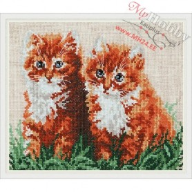 Complete Counted Cross Stitch Kit 'Ginger Friends' 22 x 18cm - MAGIC NEEDLE art: 58-05