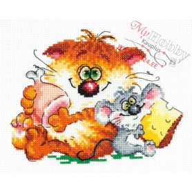 Complete Counted Cross Stitch Kit 'The best friends' 15 x 12cm - MAGIC NEEDLE art: 18-75