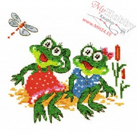 Complete Counted Cross Stitch Kit 'Look at this' 14 x 14cm - MAGIC NEEDLE art: 18-31