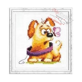 Complete Counted Cross Stitch Kit 'Who are You?' 9 x 10cm - MAGIC NEEDLE art: 16-24