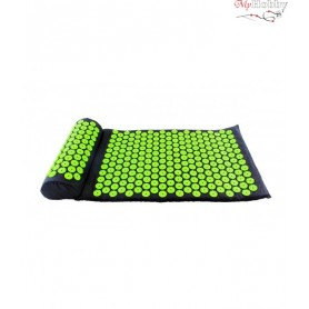 Acupressure mat with pillow, black, six7fit