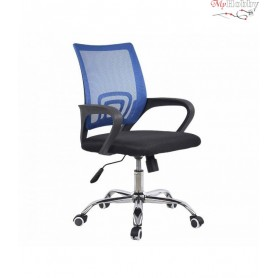 Swivel office chair VANGALOO DM8136, black with blue back