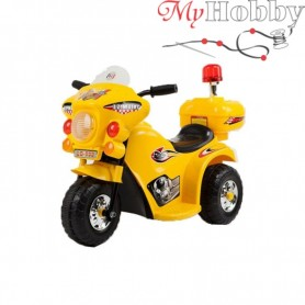 Children's yellow motorcycle with side wheels (WDLQ998)