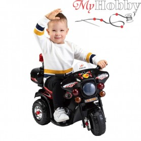 Children's black motorcycle with side wheels LQ-998