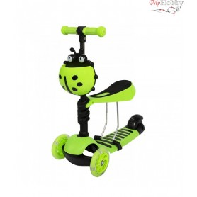 Scooter with push handle Scooter 5in1 green