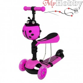 Scooter with push handle Scooter 5in1 pink
