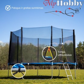 Trampoline with safety net 4.35 m. (14FT-3)