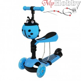 Scooter with push handle Scooter 5in1 blue