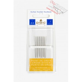 DMC Cross Stitch Needles, size 24, L: 36 mm, with rounded ends 6pcs