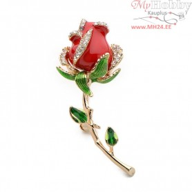 "Brooch ""Red Rose"""