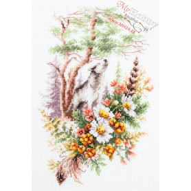 Complete Counted Cross Stitch Kit 'Summer Forest Spirit' 17 x 27cm - MAGIC NEEDLE art: 250-699