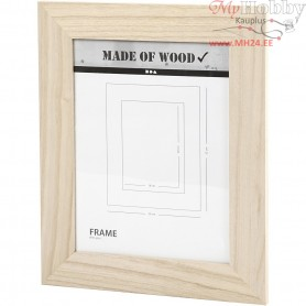 Frame With Glass, rectangular, size 26x32 cm, carving: 18x24 cm, empress wood, 1pc