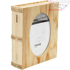 Book Box, size 21,7x18 cm, thickness 5,6 cm, plywood, 1pc, hole size 16x10,8
