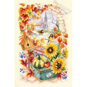 Complete Counted Cross Stitch Kit 'Autumn Story' 17 x 27cm - MAGIC NEEDLE' art: 250-734