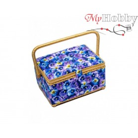 Toolbox / Sewing basket 'Ripe Apples', size: 24.5 x 18 x 12.5cm - 4147-RT-15