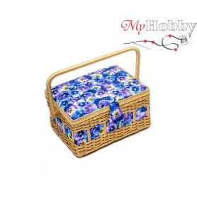 Toolbox / Sewing basket 'Owl', size: 24.5 x 18 x 12.5cm - 4145-RT-13