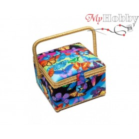 Toolbox / Sewing basket 'Turtle', size: 20.5 x 20.5 x 13.5cm - 4141-RT-27