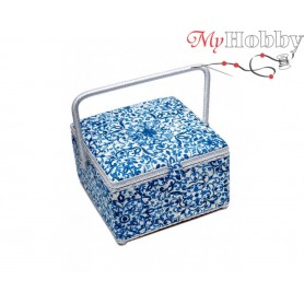 Toolbox / Sewing basket 'The Italian Courtyard', size: 26 x 26 x 16cm - 4136-RT-37