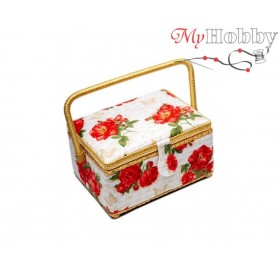 Toolbox / Sewing basket 'Stick with Me', size: 24.5 x 18 x 12.5cm - 4132-RT-15
