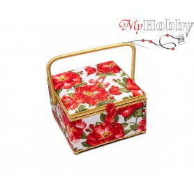 Toolbox / Sewing basket 'Yellow Narcissus', size: 26 x 26 x 16cm - 4127-RT-37