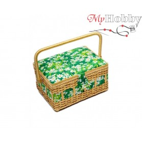 Toolbox / Sewing basket 'Snow Leopard', size: 24.5 x 18 x 12.5cm - 4120-RT-13