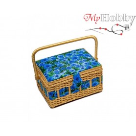 Toolbox / Sewing basket 'Ice Cold Wind', size: 24.5 x 18 x 12.5cm - 4118-RT-13