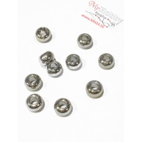 Jewelry beads, diameter: 5mm, thickness: 3mm, hole: 2mm, stainless steel, 10pcs / pack