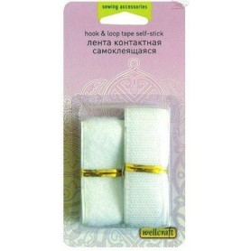Hook & loop tape self - stick, 2 x 20cm, Wellcraft