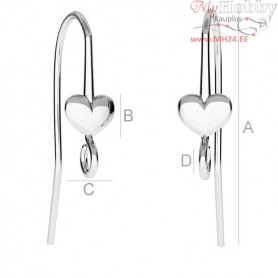 Sterling Silver Earrings hooks