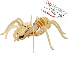 Wood Construction Kit - 3D spider