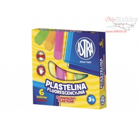 Plasticine ASTRA fluorescent 6 colors