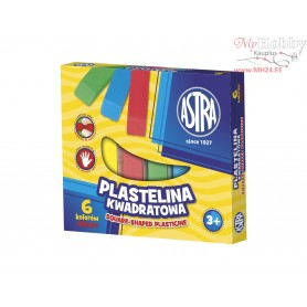 Plasticine ASTRA square sticks 6 colors