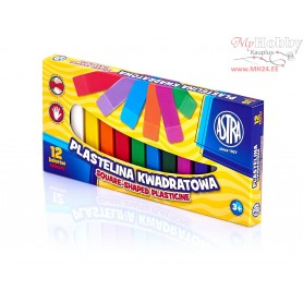 Plasticine ASTRA square sticks 12 colors