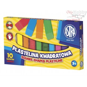 Plasticine ASTRA square sticks 10 colors