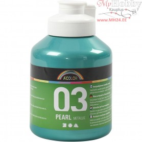 A-Color Acrylic Paint, green, 03 - metallic, 500ml
