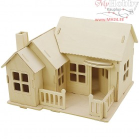 Wood Construction Kit - 3D House with terrace